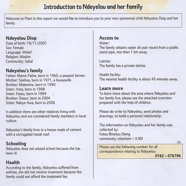Introduction to Ndeyelou family