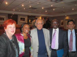 UNDP delegates pictured with Mr Ahmed Kathrada