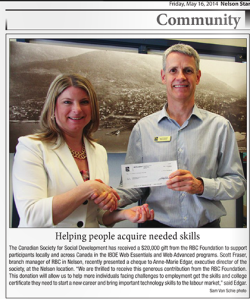 (RBC Foundation gift to CSSD)