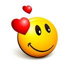 32128-Clipart-Illustration-Of-An-Expressive-Yellow-Smiley-Face-Emoticon-With-Hearts-Admiring-His-Crush