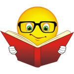 smiley-wearing-glasses-reading-a-book