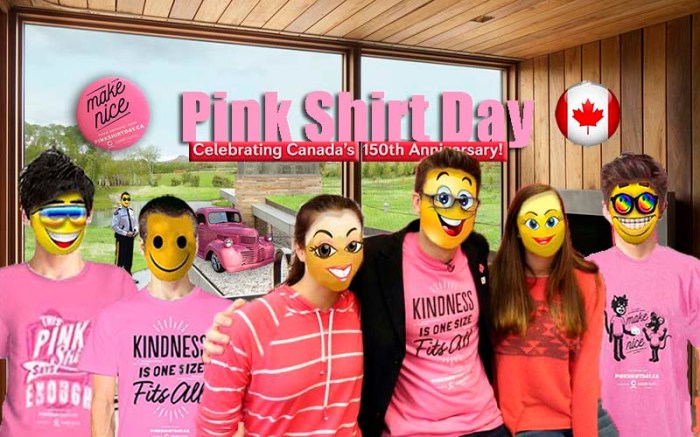 Pink Shirt friends