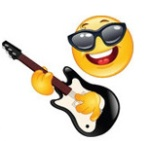 Rocker-Emoticon-With-Guitar