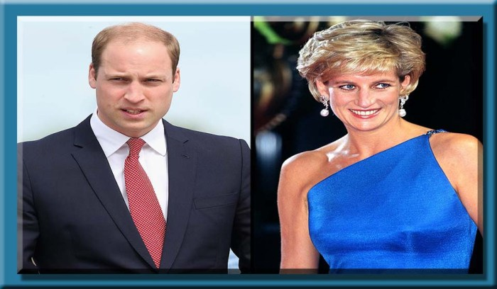 Prince William and Princess Diana CHRIS JACKSON/GETTY; JULIAN PARKER/UK PRESS/GETTY REDESIGNED BY TERKIN BY DESIGN