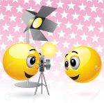 4667307-Smiling-balls-taking-photographs-in-studio-Stock-Vector-smiley-face-camera