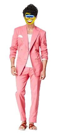 chuckie pink suit