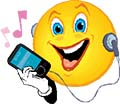 MP3 player smiley face