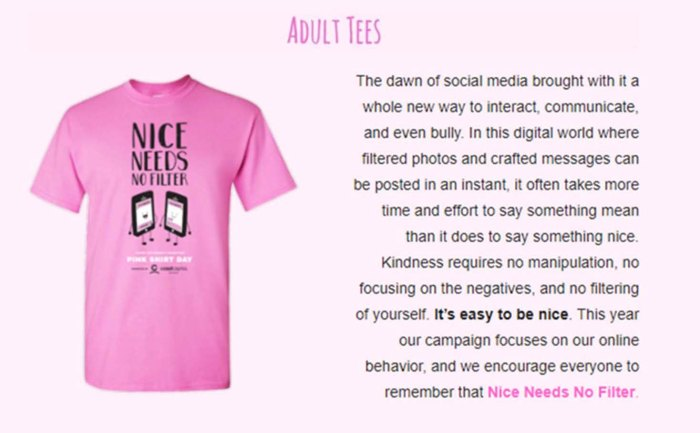 pink shirt 2018