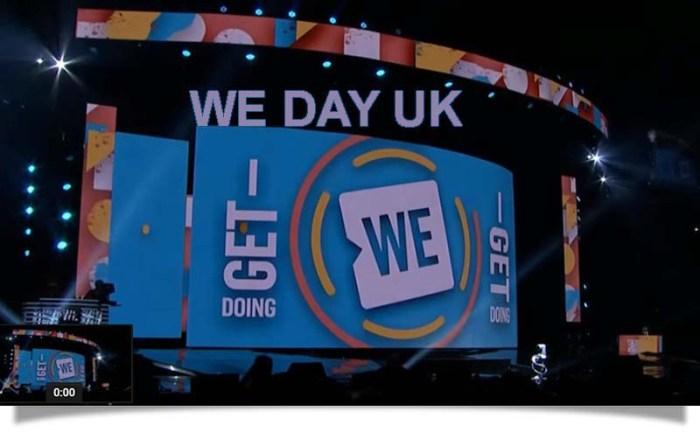 WE Day UK header 2
